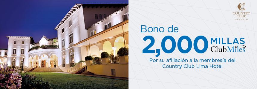 Bono por afiliación a membresía del Country Club Lima
